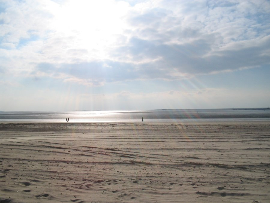 La Baule beach in winter